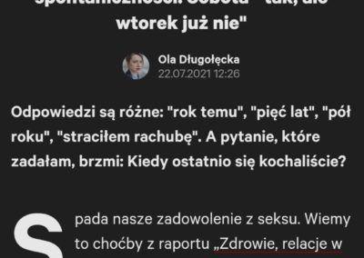 """Gazeta.pl: """"W naszym seksie nie było żadnej spontaniczności"""""""