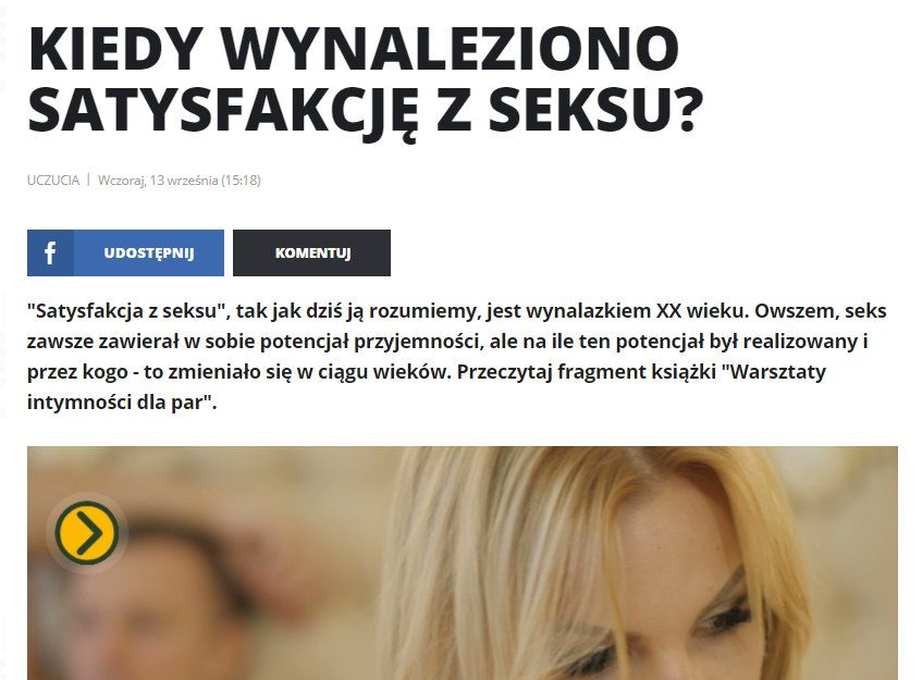 """Satysfakcja z seksu – fragment """"Warsztatów intymności dla par"""""""